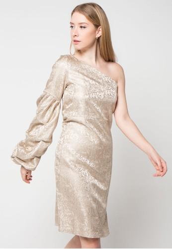 Bel. Corpo gold Puffy Chloe Dress BE546AA04HYPID_1