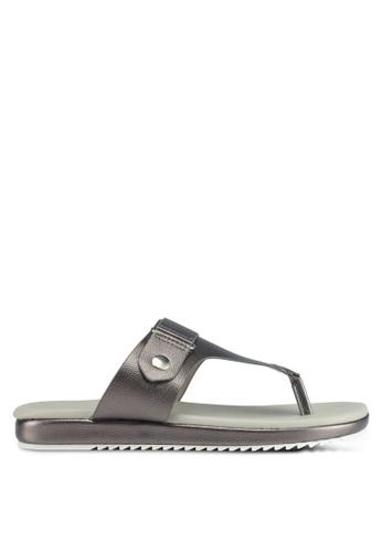Bata grey Bata Pebbled Texture Sandals 484BDSH61689F0GS_1