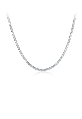 Glamorousky silver Fashion Simple 2MM Snake Necklace 45cm D3ACCAC7048ABDGS_1