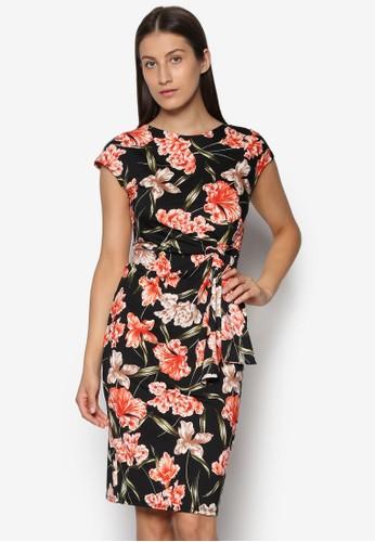 扭結印花連身裙esprit高雄門市, 服飾, 洋裝