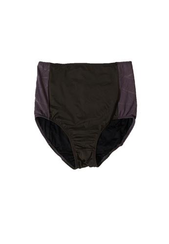 YeoMama Batik grey Grey High Waisted Swim Bottom CEBB5USC052E46GS_1