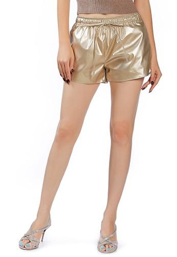 London Rag gold Light Gold Metallic Shorts 62DCEAA53B82C1GS_1