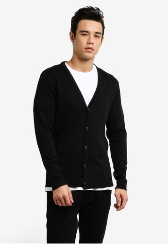 Selected Homme black Knitted Cardigan SE364AA0RB4WMY_1
