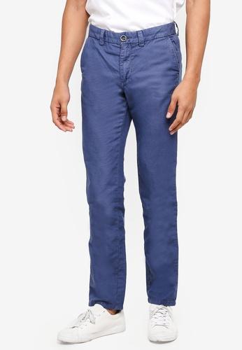 OVS 藍色 休閒直筒褲 4FFF8AAD397F0CGS_1