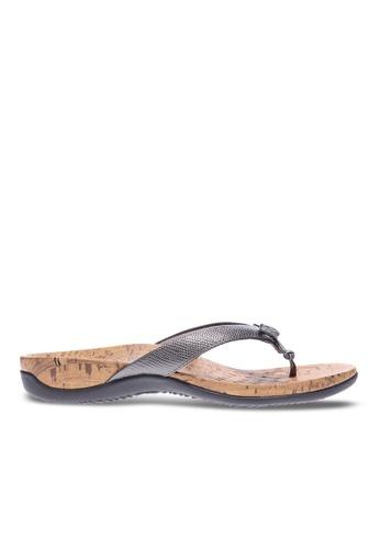Vionic grey Cassie Toe Post Sandal 39368SH97BBBDAGS_1