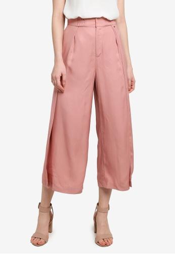 Hopeshow pink Loose Fit Straight Slacks 75AC6AAC72CF29GS_1