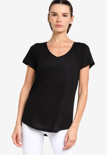 Lorna Jane black Frankie Active T-Shirt 7C4E9AA5A86914GS_1