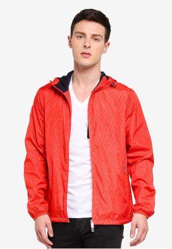Armani Exchange red and orange Geometric Logo Windbreaker 6180DAA41E1DB2GS_1