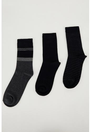 DeFacto black Man 3-pieces Socks 12623AA4C31677GS_1