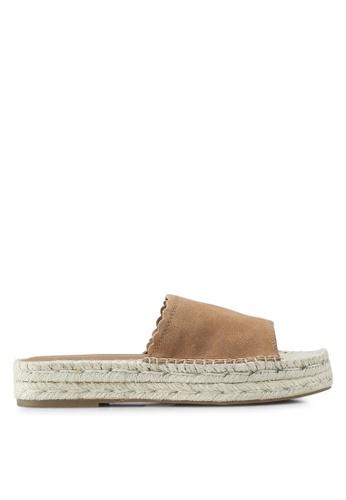 ALDO 褐色 Papaikou Wedge Sandals 2E9F1SH862A8D2GS_1