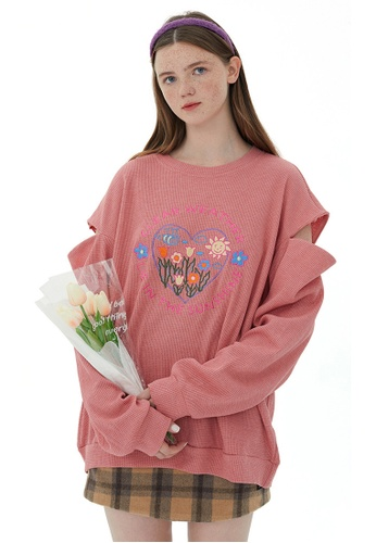 Twenty Eight Shoes Oversize Love Embroidery Hoodies HH1601 FCBBFAA7526A0AGS_1