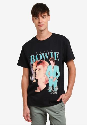 Topman black David Bowie T-Shirt TO413AA0S5L8MY_1