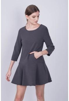 Paneled Skater Dress