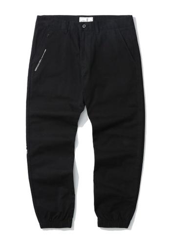 :CHOCOOLATE black Slogan jogger pants 258F8AA78DC76BGS_1