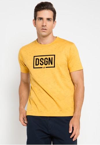 D&F yellow T-Shirt Design DF100AA0UNV8ID_1