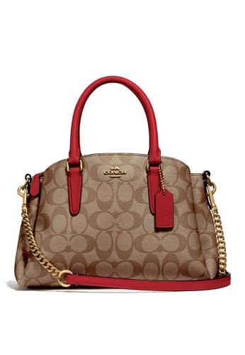 Coach brown and red Mini Sage Carryall Bag (cv) 96C3FAC8E821DAGS_1