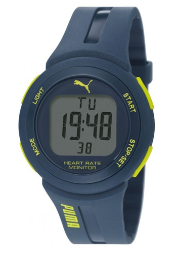 Puma blue PU911101003 Pulse Plus Blue PU Strap Men Watch PU549AC0RKJUMY_1
