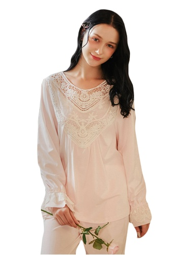 LYCKA white LML1290-Lady Casual Pajamas Two Pieces Set-White 2B8B9AAB767F2FGS_1