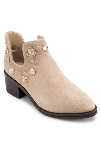 Octavia 造型鉚釘麂皮踝靴, 韓系時尚, 梳esprit 會員妝
