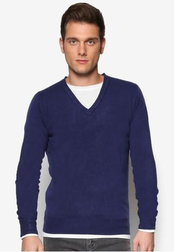 基本款V 領長袖織衫, esprit 京站服飾, 服飾