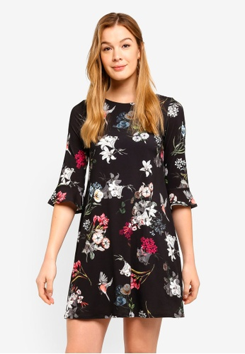 94de8cd436460c Buy Wallis Petite Back Floral Print Shift Dress Online on ZALORA ...