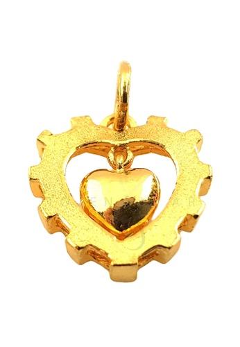 LITZ gold LITZ JINXI 999 (24K) Gold Love Pendant 30120ACC98912FGS_1