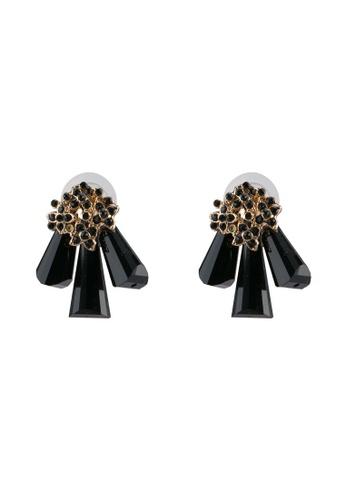 Red's Revenge black Crystal Prongs Stud Earrings RE144AC0SJ4ZMY_1