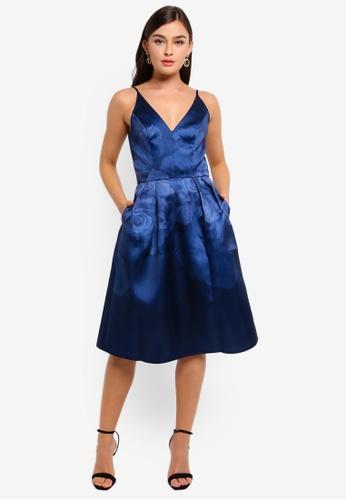 CHI CHI LONDON blue Seymour Dress 754BDAA0D1C83EGS_1