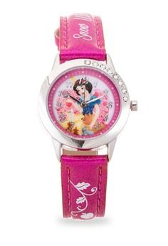Disney Princess Girls Dark Pink Leather Strap Watch TG-3K2377U-PS-002RP