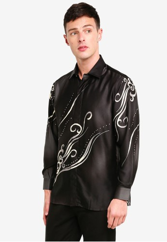 Gene Martino black Men Baju Batik 4F7D3AAE0A6916GS_1
