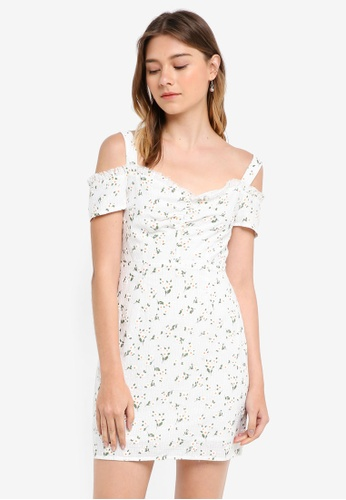 Something Borrowed white Cold Shoulder Bodycon Dress BFBE1AA208A37BGS_1