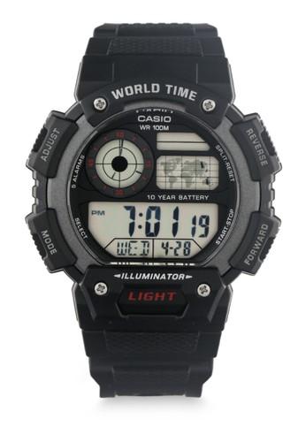 Casio black Mens Digital Watches Ae-1400Wh-1Avdf 356C1AC18ED526GS_1