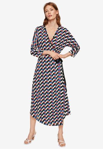 Mango red Geometric Print Dress 384E5AA72D31B5GS_1