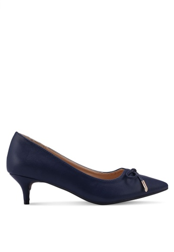 Carlton London blue and navy Bow Heels 99A18SH77DF4AFGS_1