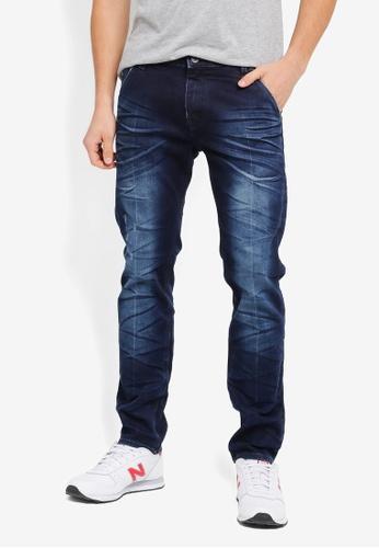 CR7 藍色 時尚修身牛仔褲 CR532AA0SYHZMY_1