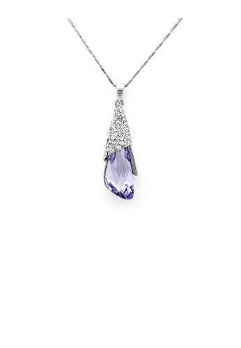 Glamorousky purple Enchanting Pendant with Silver and Purple Austrian Element Crystals A70D6AC9605D21GS_1