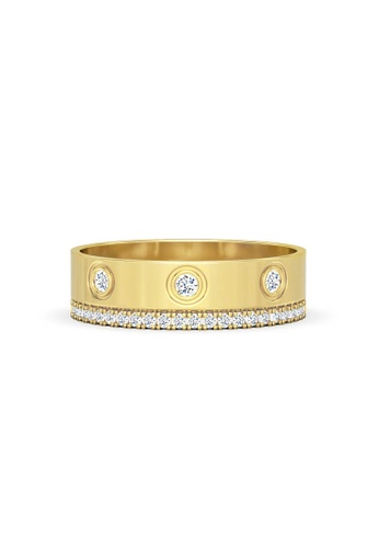 Aquae Jewels yellow Ring Rich & Bold Lover 18K Gold And Diamonds - Yellow Gold 3BD1DAC129D860GS_1