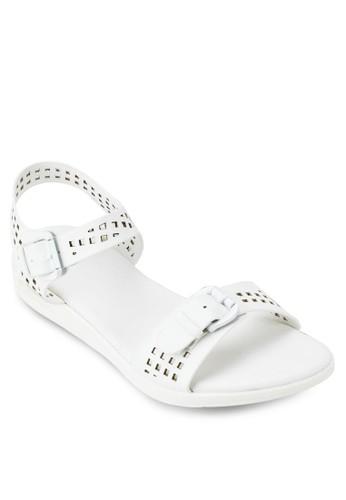 雕花踝帶涼鞋, zalora 心得 ptt女鞋, 楔形涼鞋