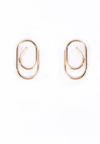 We Enjoy Simplicity 金色 Lucia Earring (Gold - 925s Pin) 091BDAC72C86DFGS_1