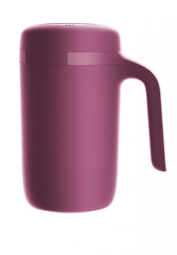 Artiart red Vitality Hill Thermal Suction Mug (Red) (Water Logo) Design by ArtiArt 076E4HL063E4D7GS_1
