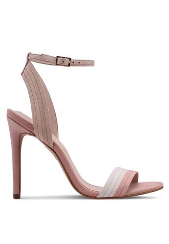 ALDO 褐色 一字帶繞踝高跟鞋 7E65BSH770C863GS_1