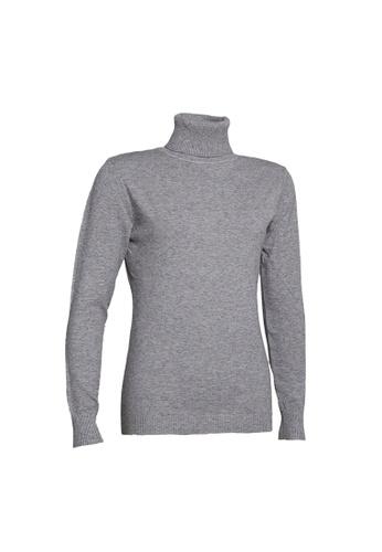 Universal Traveller grey Universal Traveller Basic Turtleneck Knitted Sweater - KSW 9160 2C151AA36A16D9GS_1