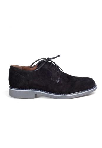 Shu Talk black eMocs Men Suede Leather Derby Shoes 142F4SH732ABC2GS_1