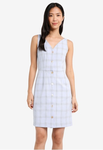 ZALORA blue Tulip Dress 66A7EAA5B8AC59GS_1