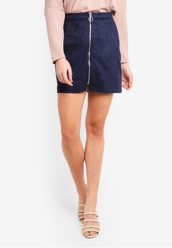 Vero Moda navy Need Short Zip Skirt C2C08AAC057894GS_1