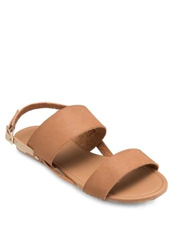Cheshire 金屬寬帶繞踝esprit手錶專櫃涼鞋, 女鞋, 鞋