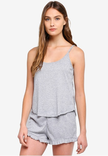Cotton On Body grey Rib Sleep Tank Top 428C4AA6B2C763GS_1