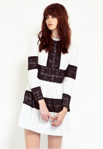 蕾絲洋裝, 服飾,zalora時尚購物網評價 短洋裝