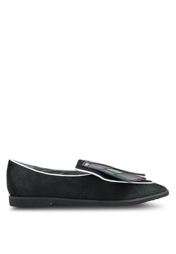 House of Avenues black Printed Tassel Loafers HO685SH0RRA2MY_1