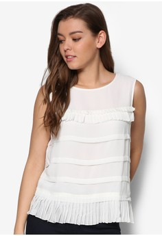 Crimped Shirting Top